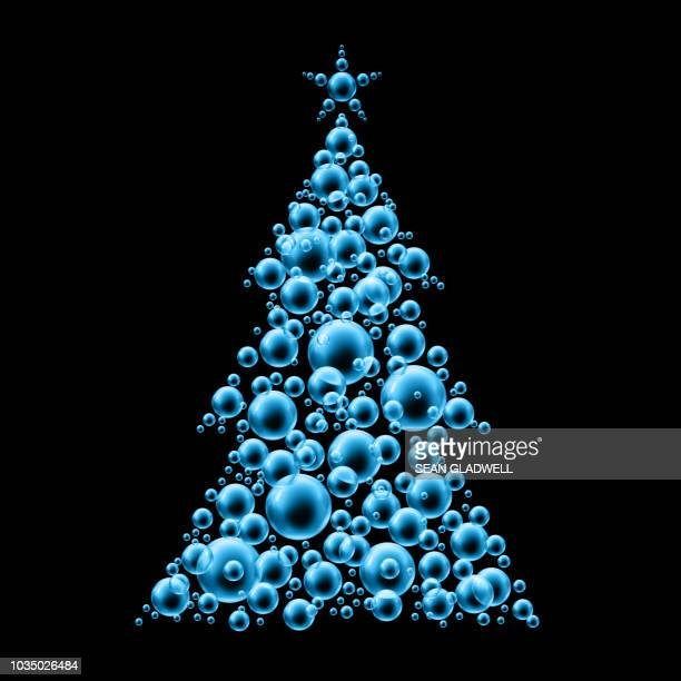 Blue bubble christmas tree