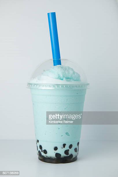 Blue bubble tea