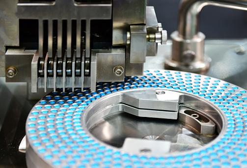Blue capsule medicine pill production line 1158361787