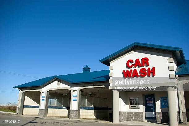 blue car wash - car wash stock photos and pictures