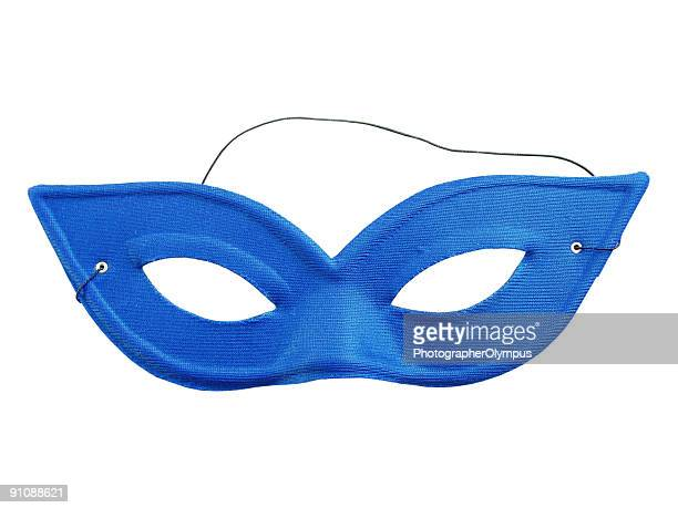 blue carnival mask - mask disguise stock pictures, royalty-free photos & images
