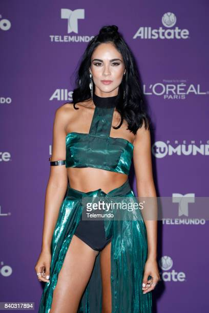 MUNDO 2017 'Blue Carpet' Pictured Alexandra Pomales arrives to the 2017 Premios Tu Mundo at the American Airlines Arena in Miami Florida on August 24...