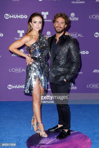 MUNDO 2017 'Blue Carpet' Pictured Ana Belena Lambda Garcia arrives to the 2017 Premios Tu Mundo at the American Airlines Arena in Miami Florida on...