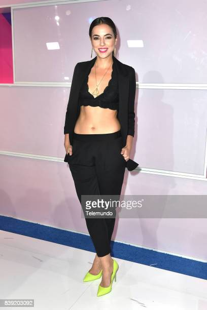 MUNDO 2017 'Blue Carpet' Pictured Ana Lorena Sanchez arrives to the 2017 Premios Tu Mundo at the American Airlines Arena in Miami Florida on August...