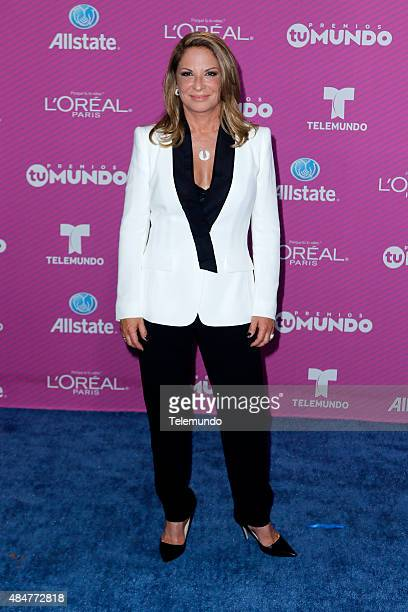 Ana María Polo arrives at the 2015 Premios Tu Mundo at the American Airlines Arena in Miami Florida on August 20 2015 PREMIOS TU MUNDO 2015 Alfombra...