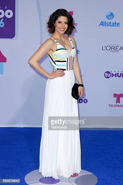MUNDO 2016 'Blue Carpet' Pictured Andrea Marti arrives at the 2016 Premios Tu Mundo at the American Airlines Arena in Miami Florida on August 25 2016