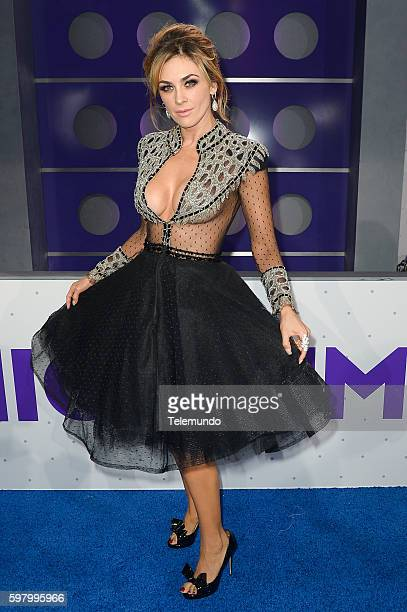MUNDO 2016 'Blue Carpet' Pictured Aracely Arámbula arrives at the 2016 Premios Tu Mundo at the American Airlines Arena in Miami Florida on August 25...