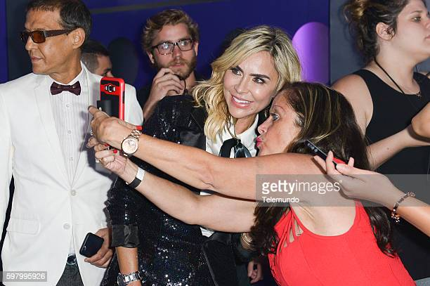 MUNDO 2016 Blue Carpet Pictured Aylin Mujica arrives at the 2016 Premios Tu Mundo at the American Airlines Arena in Miami Florida on August 25 2016