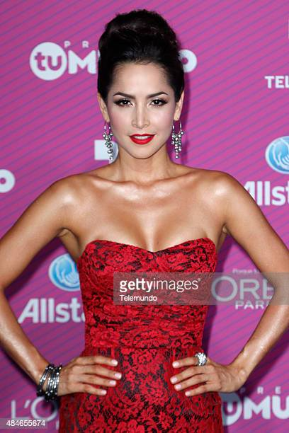 Carmen Villalobos arrives at the 2015 Premios Tu Mundo at the American Airlines Arena in Miami Florida on August 20 2015 PREMIOS TU MUNDO 2015...