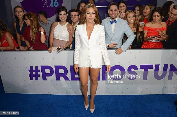 MUNDO 2016 'Blue Carpet' Pictured Danna Paola arrives at the 2016 Premios Tu Mundo at the American Airlines Arena in Miami Florida on August 25 2016