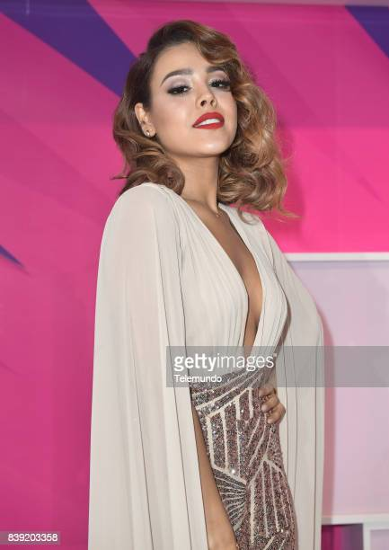 MUNDO 2017 'Blue Carpet' Pictured Danna Paola arrives to the 2017 Premios Tu Mundo at the American Airlines Arena in Miami Florida on August 24 2017