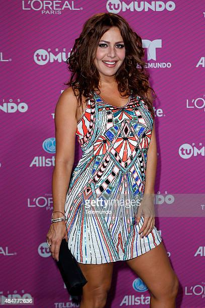 Dayana Garroz arrives at the 2015 Premios Tu Mundo at the American Airlines Arena in Miami Florida on August 20 2015 PREMIOS TU MUNDO 2015 Alfombra...