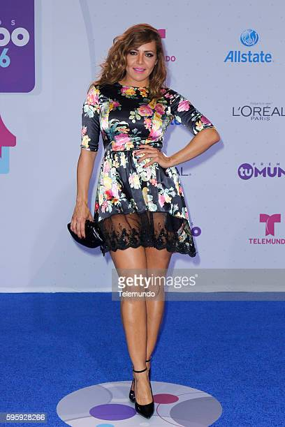 MUNDO 2016 Blue Carpet Pictured Dayana Garroz arrives at the 2016 Premios Tu Mundo at the American Airlines Arena in Miami Florida on August 25 2016