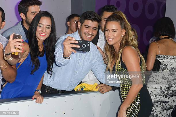 MUNDO 2016 Blue Carpet Pictured Erika de la Vega arrives at the 2016 Premios Tu Mundo at the American Airlines Arena in Miami Florida on August 25...