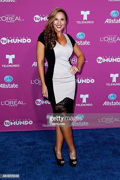 Ivette Machin arrives at the 2015 Premios Tu Mundo at the American Airlines Arena in Miami Florida on August 20 2015 PREMIOS TU MUNDO 2015 Alfombra...