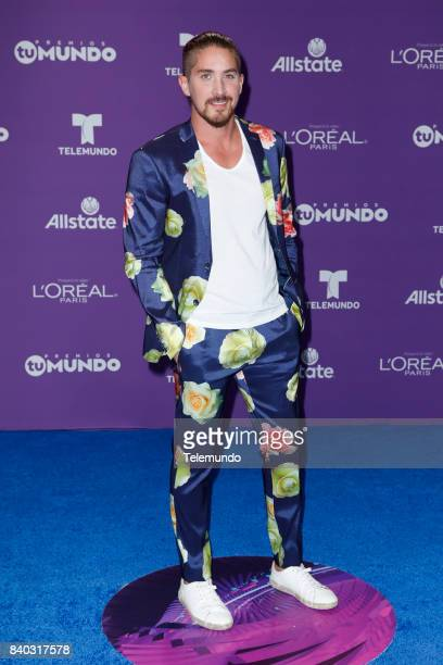 MUNDO 2017 Blue Carpet Pictured Jonathan Islas arrives to the 2017 Premios Tu Mundo at the American Airlines Arena in Miami Florida on August 24 2017