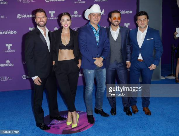 MUNDO 2017 Blue Carpet Pictured Mauricio Martinez Cristina Rodlo El Dasa Gustavo Egelhaaf Ricardo Polanco arrives to the 2017 Premios Tu Mundo at the...