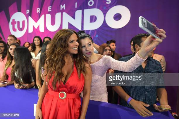 MUNDO 2017 Blue Carpet Pictured Rashel Diaz arrives to the 2017 Premios Tu Mundo at the American Airlines Arena in Miami Florida on August 24 2017