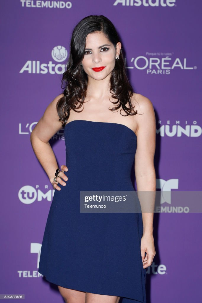 MUNDO 2017 -- 'Blue Carpet' -- Pictured: Samanta Dagnino arrives to the 2017 Premios Tu Mundo (Your World Awards) at the American Airlines Arena in Miami, Florida on August 24, 2017 --