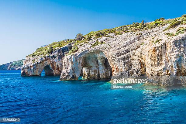 Blue caves on Zakynthos island, Greece