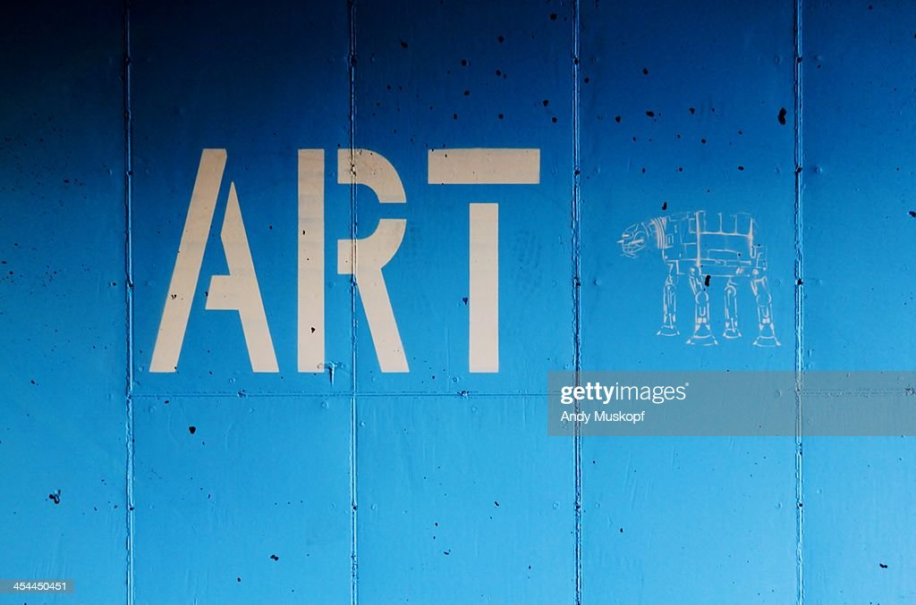 Blue cement wall : Stock Photo