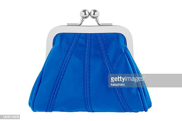 blue changing purse - clutch bag stock pictures, royalty-free photos & images