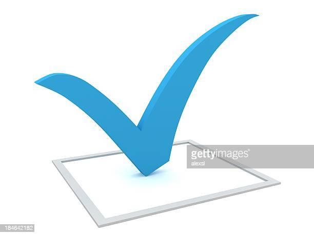 Azul marca de verificação