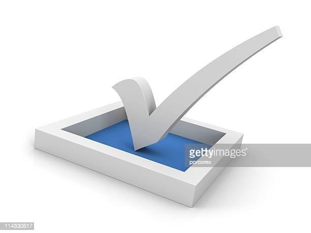 Azul símbolo de marca de verificação
