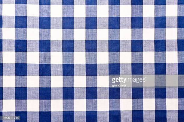 Blue Checkered Gingham Table Cloth