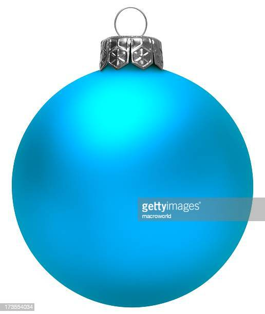 Blue Christmas Ball (Isolated)