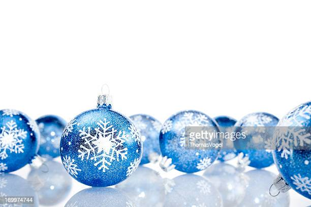 Blue Christmas Baubles