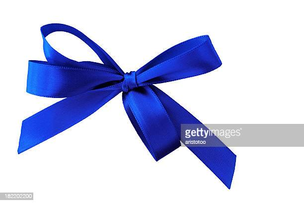Blue Christmas Bow