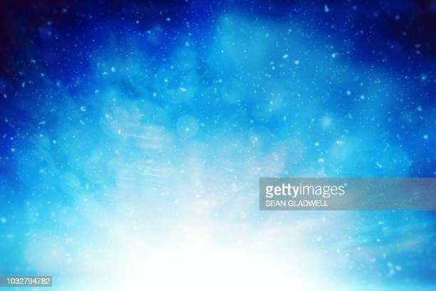 blue christmas sky background - christmas background stock photos and pictures