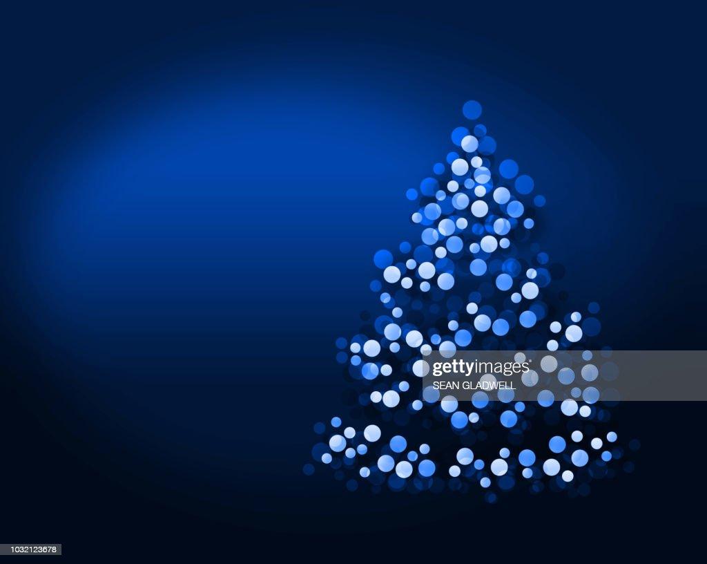 Blue christmas tree lights blurred : Stock Photo