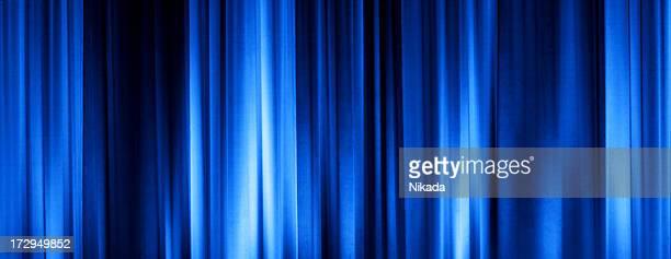 Blue Cinema Curtain
