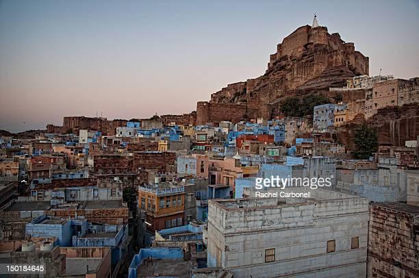 Blue city of Jodhpur at dusk