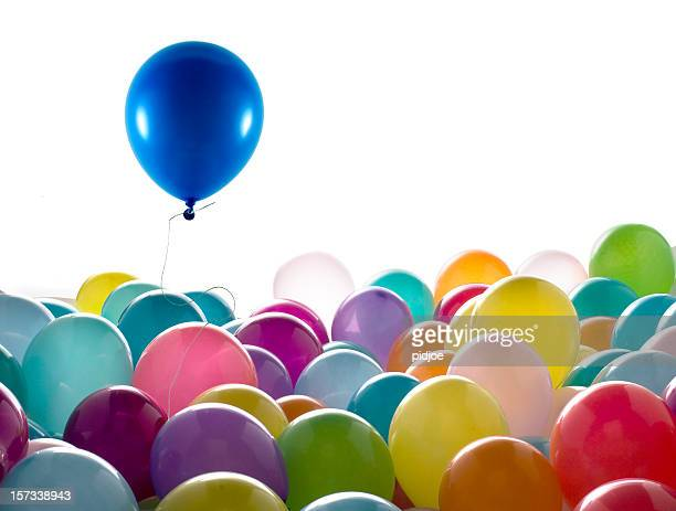 blue colored balloon