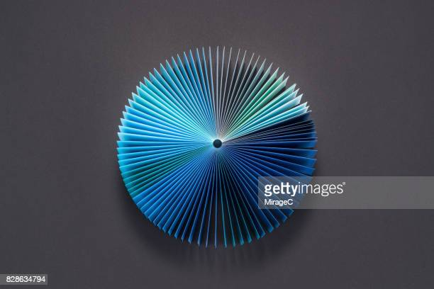 Blue Colored Book Pages Pie Chart
