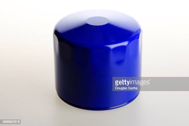 Blue colored exterior engine filter