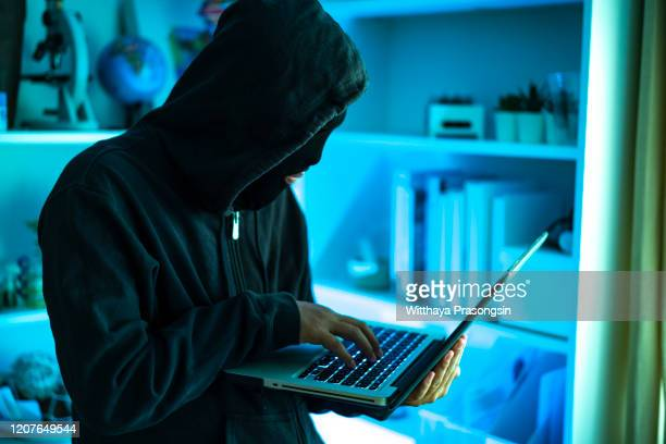 blue computer hacker - dark web stock pictures, royalty-free photos & images