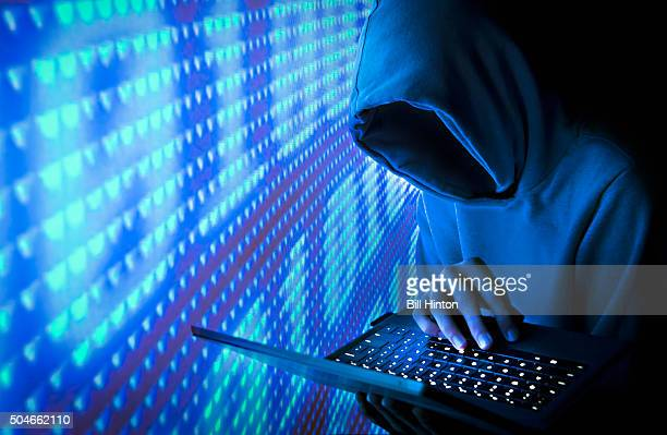 blue computer hacker - firewall stock pictures, royalty-free photos & images