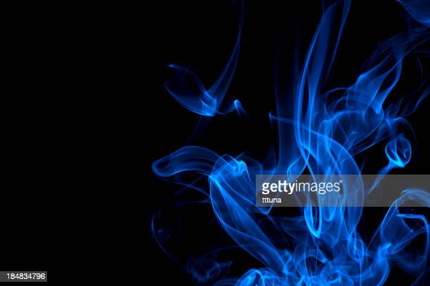 blue, creative abstract vitality impact smoke photo
