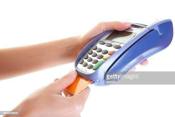 leitor de cartão de crédito - maquinaria - fotografias e filmes do acervo