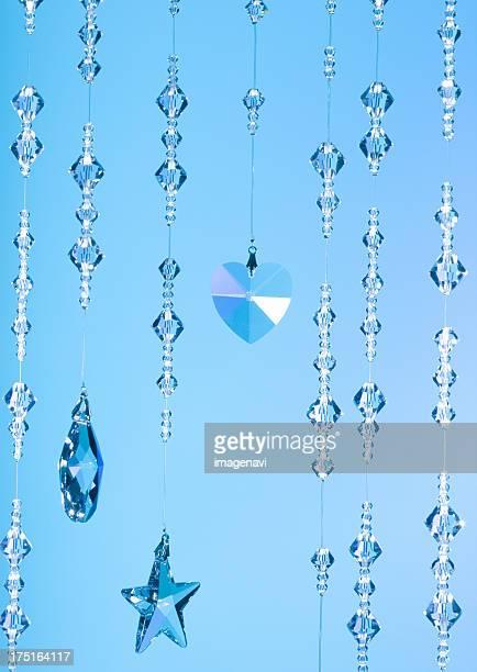 Blue crystal glasses