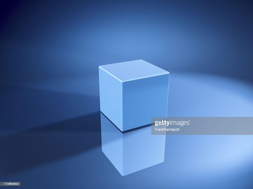 Blue Cube : Stock Photo