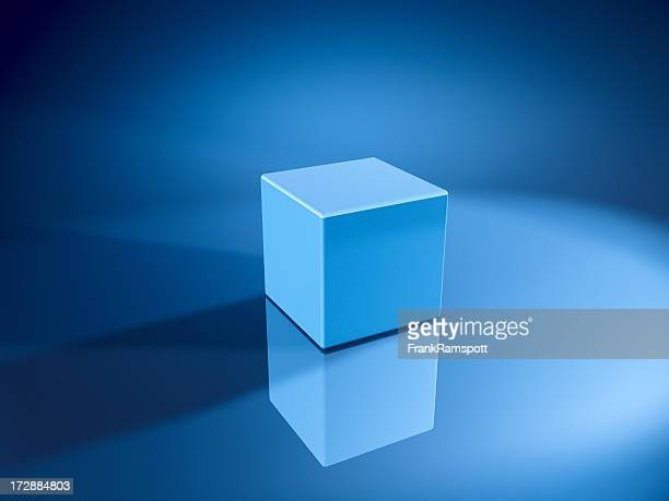 blue cube - frankramspott stock pictures, royalty-free photos & images