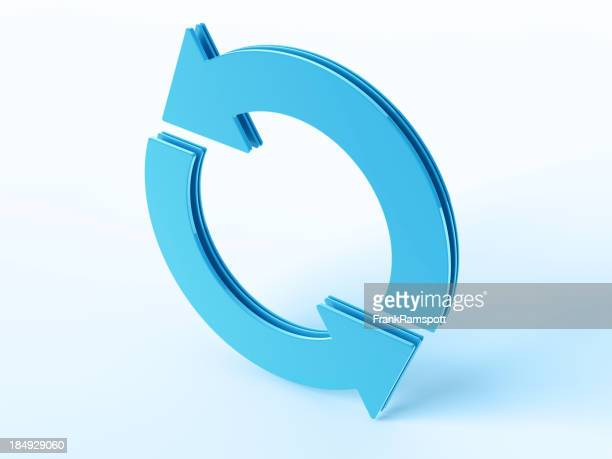 Blue Cycle Arrow Symbol
