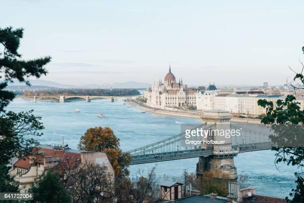 Blue Danube River in Budapest