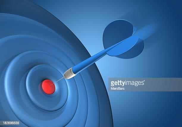 Blue dart hits target