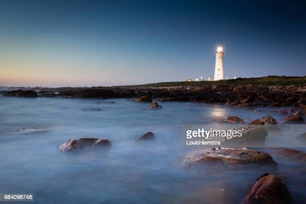 blue dawn lighthouse - eastern cape stock pictures, royalty-free photos & images